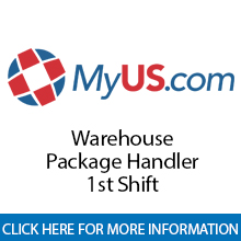 MyUS.com	Warehouse Package Handler - 1st Shift